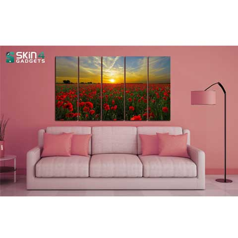 Field Landscape - Canvas Print Stretched and Framed - skin4gadgets