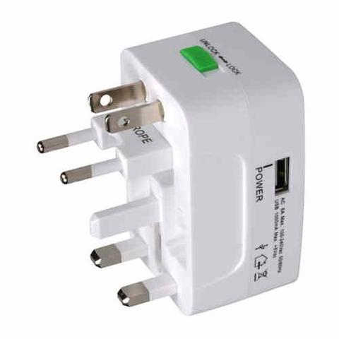 MX UNIVERSAL TRAVEL ADAPTOR WITH USB CHARGING PORT