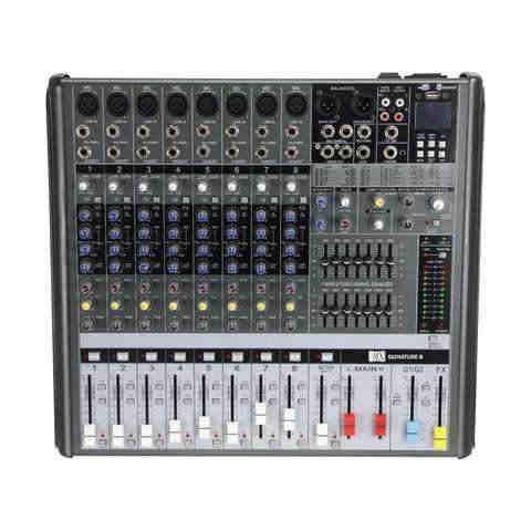 MX Live Audio Mixer 8 Channel Professional Mixer with USB & Bluetooth MX SIGNATURE 8 USB