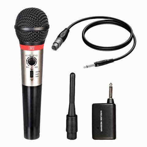 MX Professional 2 in 1 Wired & Wireless Mic with Built-in Echo Microphone SD230E