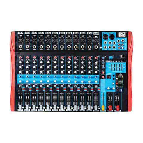 MX Live Audio Mixer 12 Channel Premium Analog Mixer with USB & Bluetooth MX BX12 USB