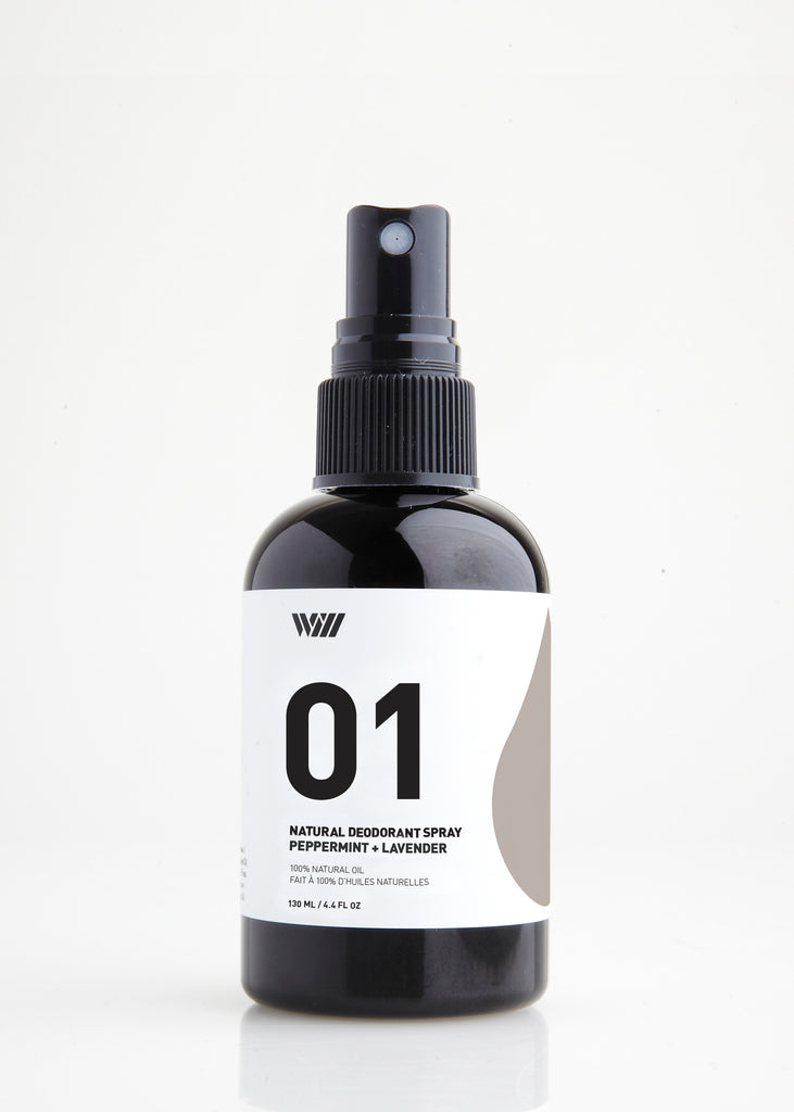 01 NATURAL DEODORANT SPRAY | PEPPERMINT AND LAVENDER