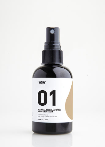 01 NATURAL DEODORANT SPRAY | BERGAMOT + ELEMI