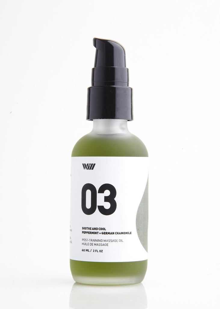 03 SOOTHE AND COOL MASSAGE OIL - PEPPERMINT & GERMAN ...