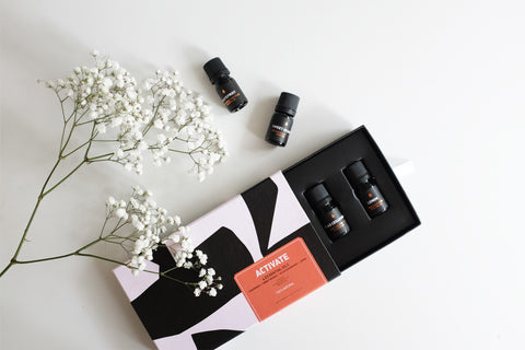 ACTIVATE ESSENTIAL OIL SET | 4 ESSENTIAL OILS