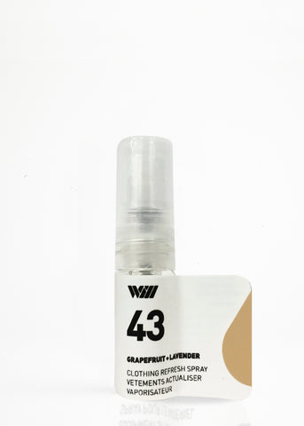 43 CLOTHING REFRESH SPRAY SAMPLE | GRAPEFRUIT AND LAVENDER