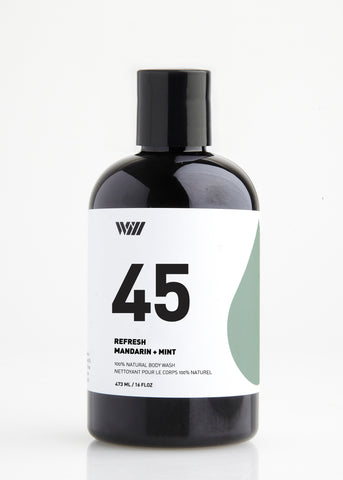 45 REFRESH 100% NATURAL BODY WASH | MANDARIN AND MINT