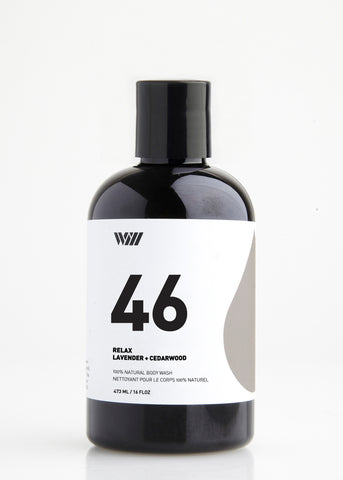 46 RELAX 100% NATURAL BODY WASH | LAVENDER AND CEDARWOOD