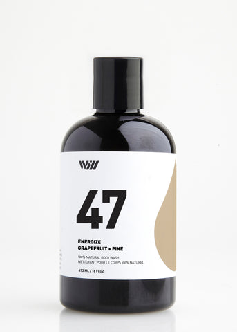 47 ENERGIZE 100% NATURAL BODY WASH | GRAPEFRUIT AND PINE