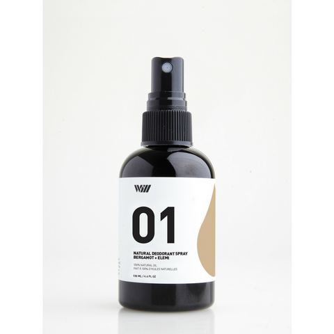 01 NATURAL DEODORANT SPRAY | BERGAMOT AND ELEMI