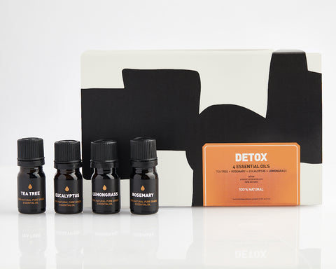 DETOX ESSENTIAL OIL SET | 4 ESSENTIAL OILS | OIL GIFT SET