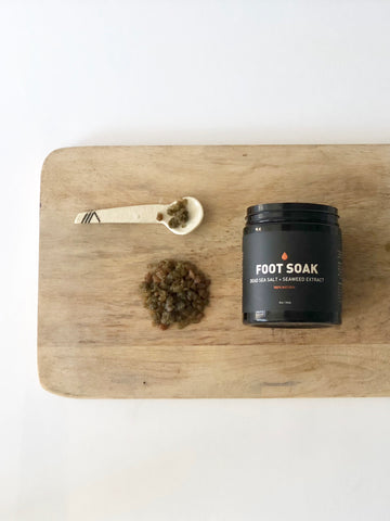 FOOT SOAK BATH SALT | DEAD SEA SALT + SEAWEED EXTRACT