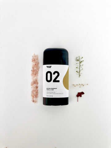 02 NATURAL DEODORANT | VANILLA AND MINT