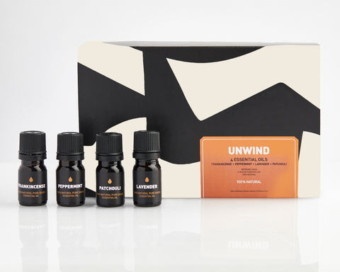 UNWIND ESSENTIAL OIL SET | 4 ESSENTIAL OILS