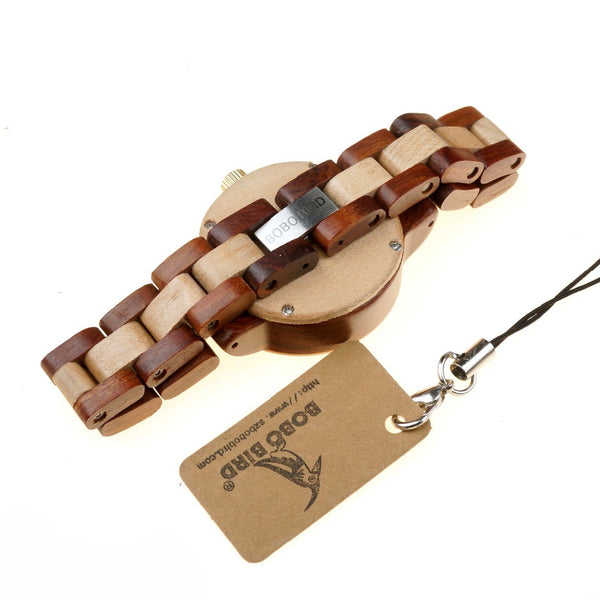 Watch-bracelet from maple and red sandalwood