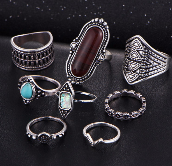 A set of  rings
