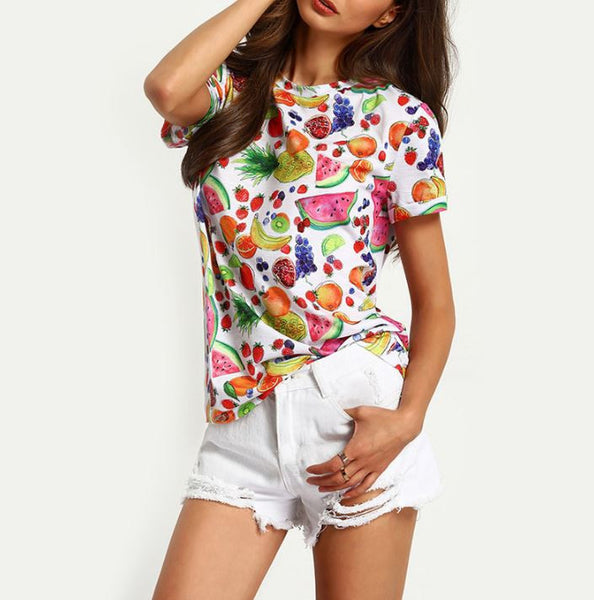 T-shirt with fruits