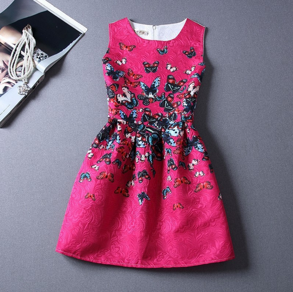 Dress with butterflies