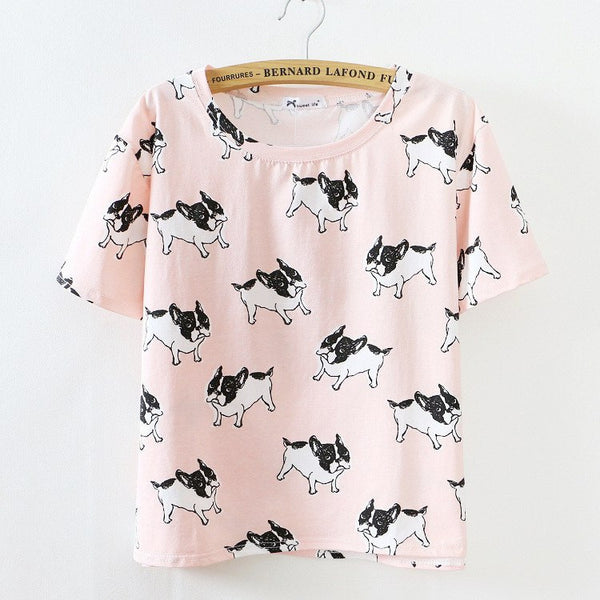 T-shirt with dogs
