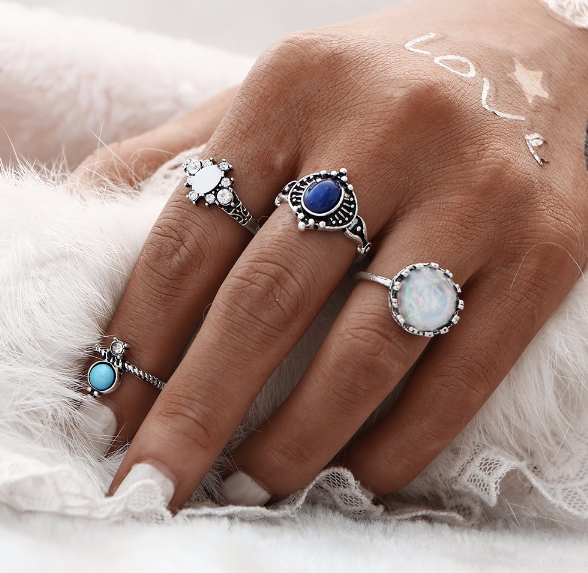 A set of boho rings
