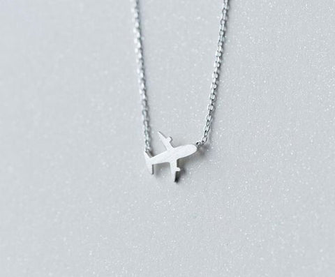 "Silver Necklace ""plane"""