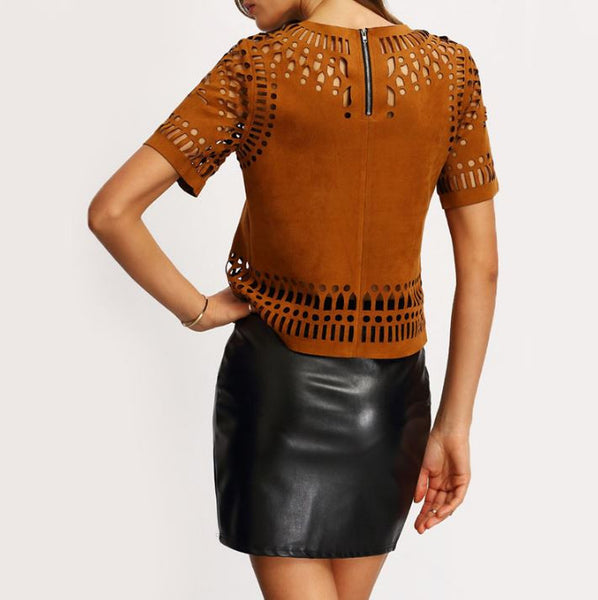 Blouse with perforation