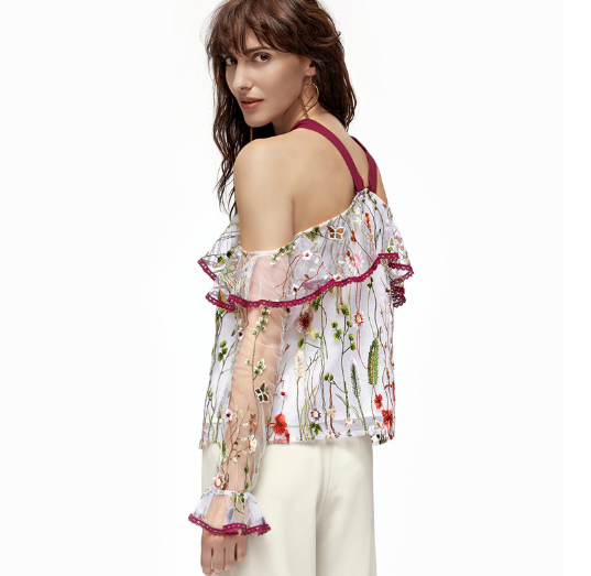 Elegant embroidered blouse
