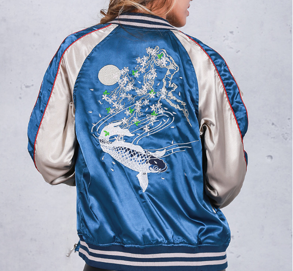 Bomber with embroidery
