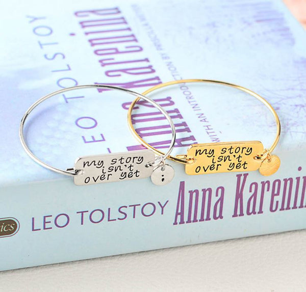 Bracelets with  inscription