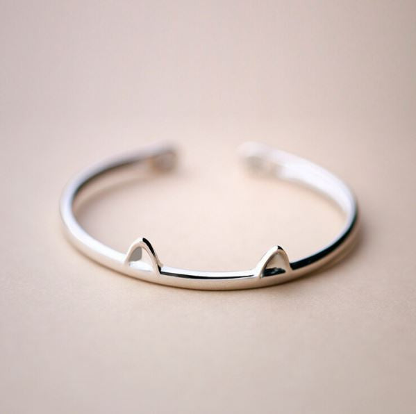 "Silver resizable bracelet ""Cute Kitty"""