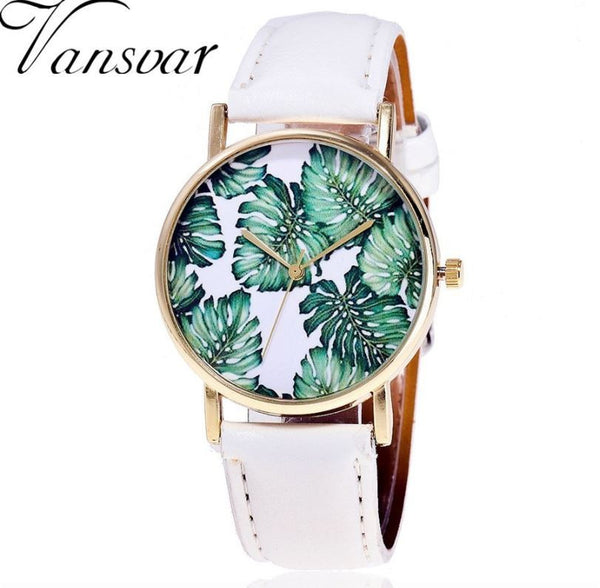 Awesome tropical leaf watches