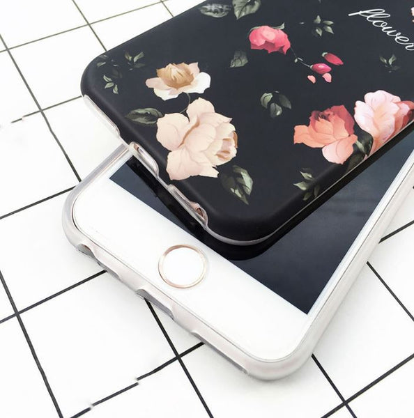 Case with flower print