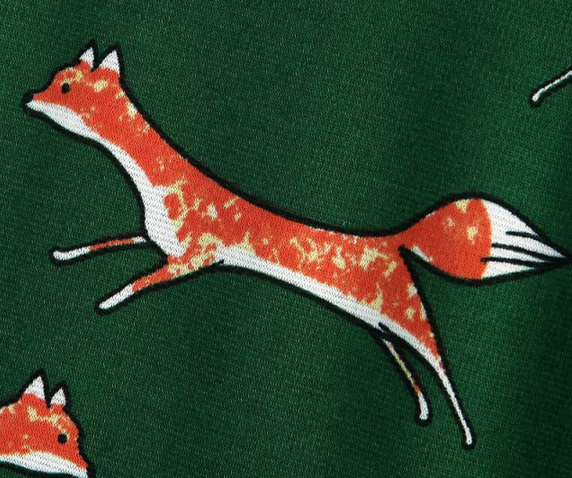 Dress with foxes
