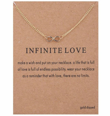 "Necklace ""Infinity Love"""