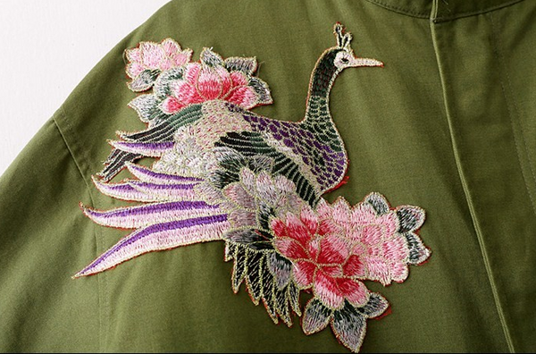 Park with embroidery