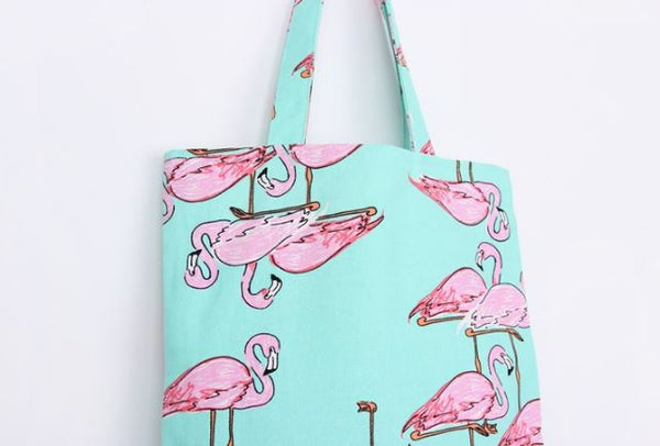 Bag with flamingo