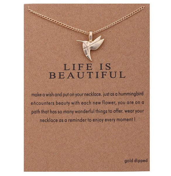 "Necklace ""Life is beautiful"""