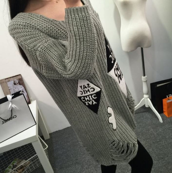 Casual sweater with stripes