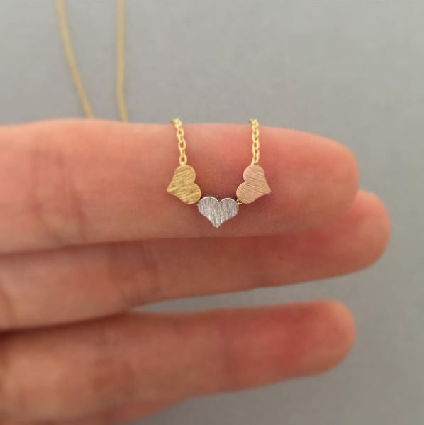 Cute Three Hearts Necklace