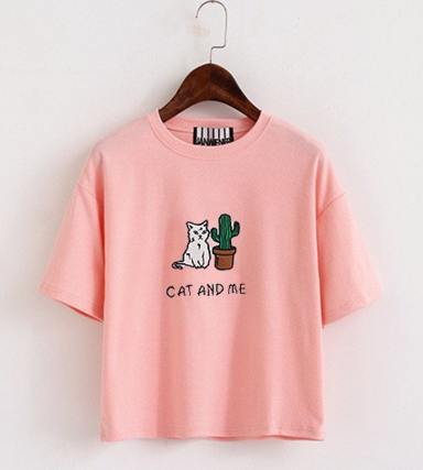 "T-shirt ""cat and me"""