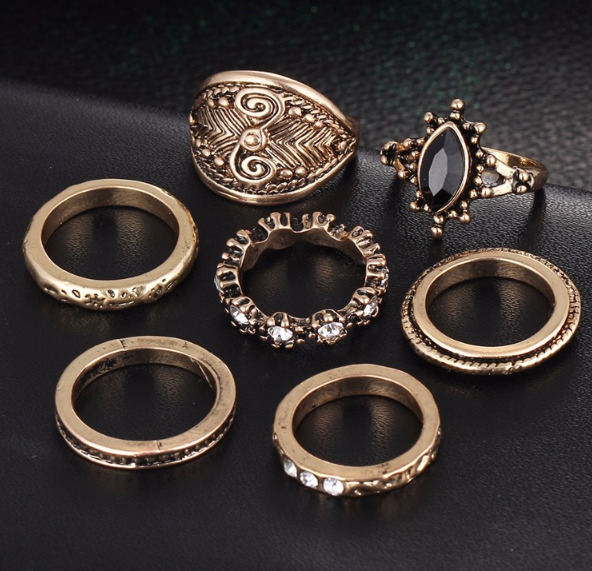 A set of vintage rings