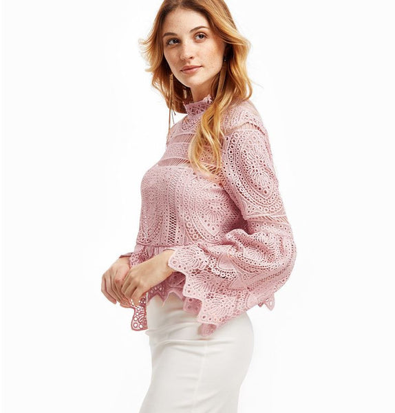 Pink Lace Blouse