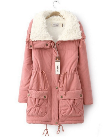 Women winter long down jacket