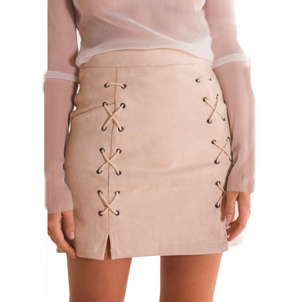 Casual skirt with lacing