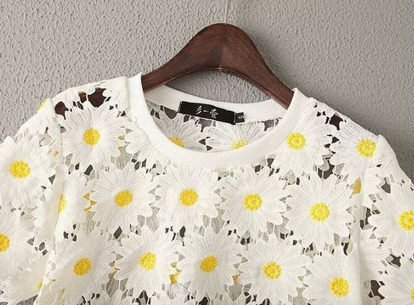 Summer top with flowers