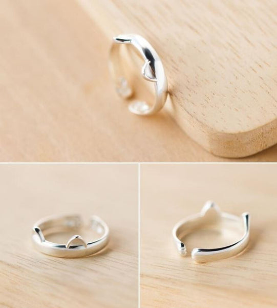 925 Silver Cat Ring