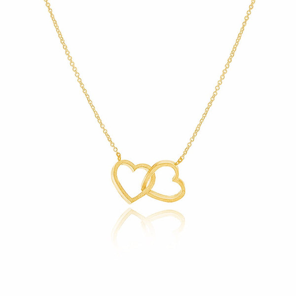 """Love Double Heart"" Necklace"