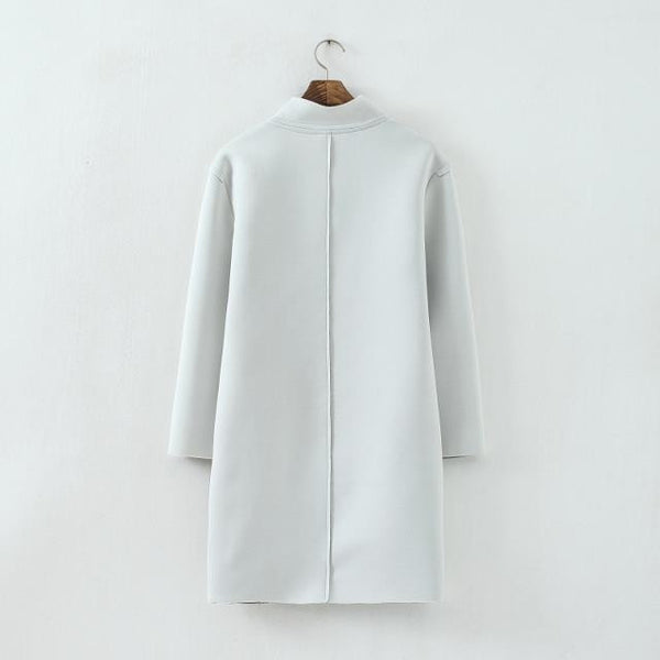 Cotton V-Neck coat