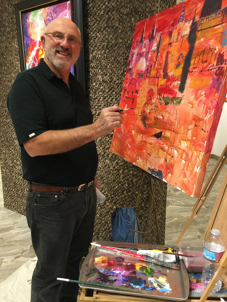 Now Painting Live at Galleria Arte Fino at the Venetian Canal Shoppes