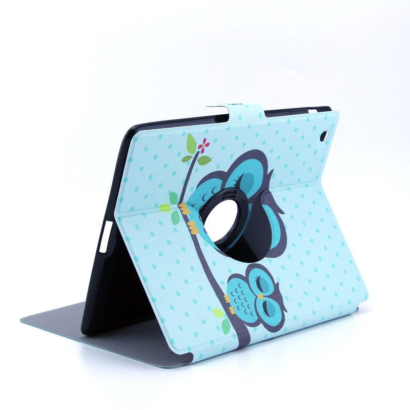 iPad 2/3/4 hoesje - Blue Lovers Owl - PhoneJunkie